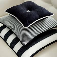 Blue And White Striped Upholstery Fabric Clarke And Clarke Riviera Fabric Collection Black And White