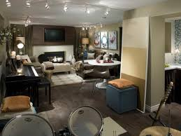 how to decorate an unfinished basement cool before and after
