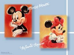mickey mouse and minnie mouse wallpaper hd wallpaper animation