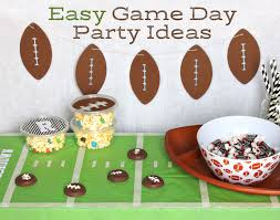football party decorations the craft patch easy football themed party decorations