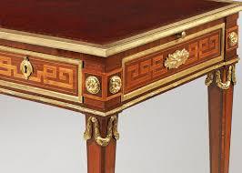 bureau style louis xvi frank partridge louis xvi tulipwood and amaranth bureau plat
