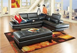 Sectional Living Room Sets Sale by Shop For A Shiloh Black 3 Pc Blended Leather Sectional Living Room