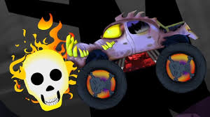 scary monster truck halloween stunts kids toy trucks