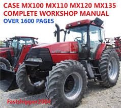 case mx100 mx110 mx120 mx135 mx service manual tractors repair