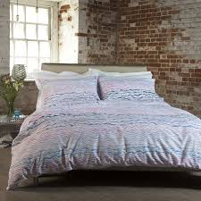 newport creek interference duvet cover set pink blue lilac