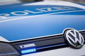german volkswagen logo police going green with volkswagen e golf
