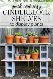 Herb Shelf Diy Cinderblock Plant Shelves Love U0026 Renovations