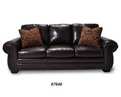 Black Leather Sofa With Cushions Furniture Dark Leather Sofa With Talsma Furniture For