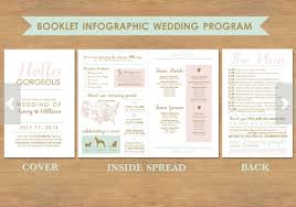 sided wedding programs wedding program infographic weddingbee