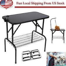 table top grooming table 32 adjustable pet dog cat grooming table top w arm noose rubber mat