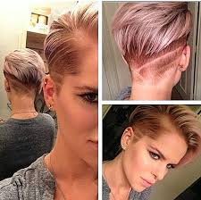 hair that is asymetric in back short hairstyles short hairstyles with both sides shaved new back