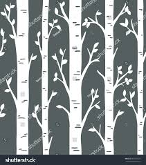 seamless pattern birch tree forest stock vector 651554725