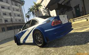 need for speed bmw bmw m3 gtr e46 need for speed most wanted v1 3 for gta 5
