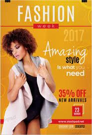 fashion week 2017 u2013 free psd flyer template free psd flyer