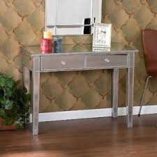 mirrored console vanity table mirrored console vanity table hollywood glam entryway hallway