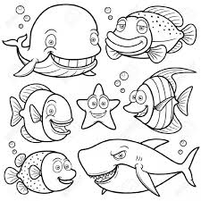 imagenes animales acuaticos para colorear dibujos de animales marinos para pintar colorear imágenes