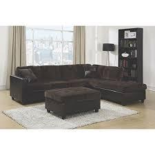 chocolate sectional sofa coaster 505645 mallory chocolate reversible sectional sofa ebay