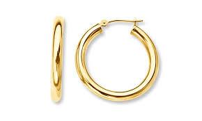 loop earrings solid 14k gold hoop earrings groupon goods