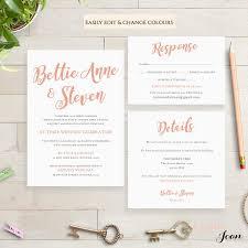 wedding invitation template set printable invitation set