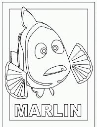 marlin finding nemo coloring coloringplus 105179 nemo happy