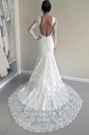 open back wedding dresses high quality scoop open back mermaid wedding dress with sleeves