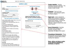 Ghs Safety Data Sheet Template Osha S Hazard Communication Standard And The Globally