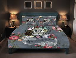 Day Of The Dead Bedding Skull Bedding Sugar Skulls Duvet Cover Comforter Set My Sugar