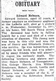 my ancestors and me edward meinzen two obituaries