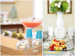 Pink Cocktails For Baby Shower - chic elegant blue and green baby shower pizzazzerie
