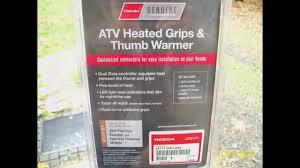 honda rancher 420at heated grips u0026 thumb warmer slide show youtube