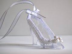 glass slipper party favor 50 fillable cinderella clear slippers wedding favor holders