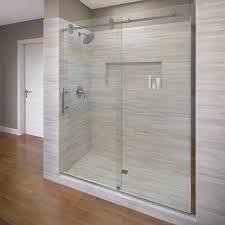 shop basco roda vinesse lux 57 in to 59 in frameless shower door