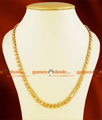 plated chain necklace images Chrt04 lg one gm 30 inches chidambaram gold plated jewelry jpg