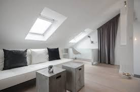 minimalist attic room with skylights the types of attic windows