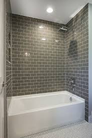 tile bath white and chocolate ceramic subway tile bathroom interesting