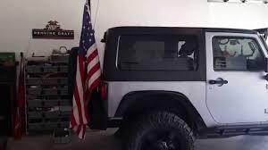 jeep american flag jeep jk flag pole youtube
