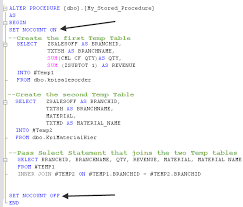Sql Declare Temp Table Running Advanced Sql Stored Procedures From Excel U2013 Bacon Bits