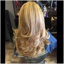 haircut highlights lowlights blondes long hair lasvegas