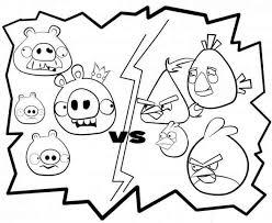 bad piggies vs angry birds free printable coloring sheets fun