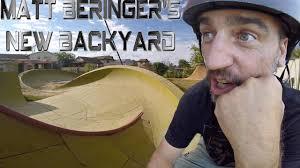 matt beringer u0027s new backyard bmx setup youtube