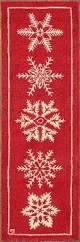 buy handmade seasonal red white snowflake ski skiing lodge 100