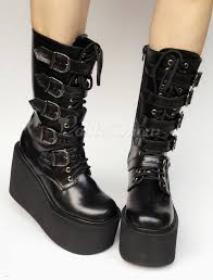 buckle motorcycle boots lolitashow platform boots black wedge buckle lace up round