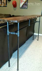 Diy Pipe Desk by Diy Industrial Pipe Table Tempting Thyme