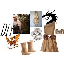 Game Thrones Halloween Costumes Khaleesi Daenerys Game Thrones Diy Costume Polyvore