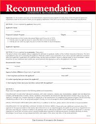 11 recommendation letter format questionnaire template