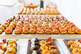 id e petit canap ap ro canapes buffet stock photo image of catering appetizing 41591482