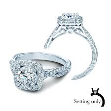 halo engagement ring settings only ring setting oval halo ring settings