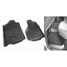 Dodge Ram All Black - rugged ridge 82989 40 floor liners kit black 02 14 dodge ram
