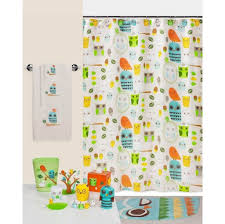 Shower Curtains With Fish Theme Bathroom Colorful Fish Theme Kids Bathroom Set Comprising White