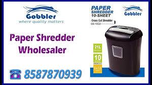 gobbler paper shredder machine supplier gurgurgam youtube